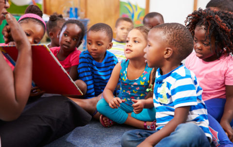 toddlers in head start classroom